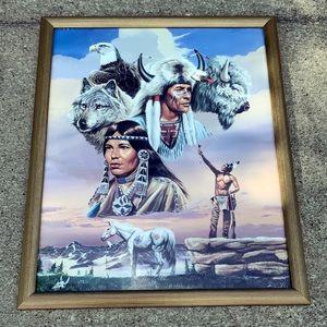 1994 Gary Ampel framed Native American print
